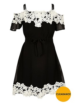 river-island-girls-black-lace-bardot-dress
