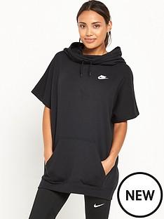 nike-short-sleeved-hoodie-black
