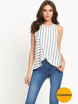 river-island-wrap-front-stripe-tee