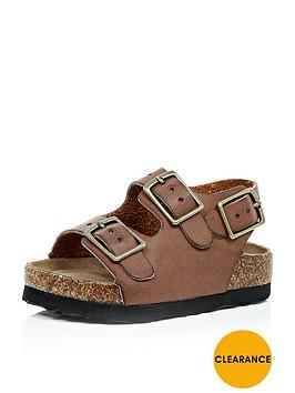 river-island-mini-mini-boys-comfort-bed-buckle-sandals