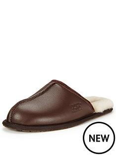 ugg-australia-scuff-leather-slippers