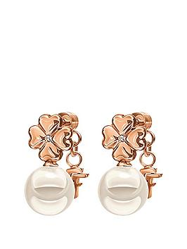 folli-follie-grace-rose-gold-plated-shell-coated-flower-earrings