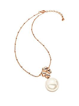 folli-follie-grace-rose-gold-plated-shell-coated-drop-pendant