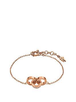 folli-follie-touch-rose-gold-plated-crystal-set-link-bracelet