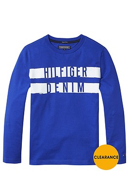 tommy-hilfiger-ls-hilfiger-denim-tee-blue