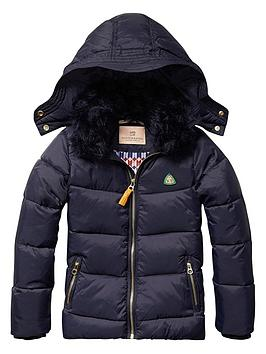 scotch-rbelle-girls-down-jacket-with-detachable-teddy-collar