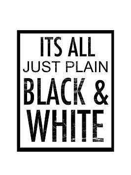 arthouse-lsquoitrsquos-all-just-plain-black-amp-whitersquo-canvas-ndash-40-x-50-cm