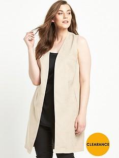 so-fabulous-suedette-split-back-sleeveless-jacket-nude