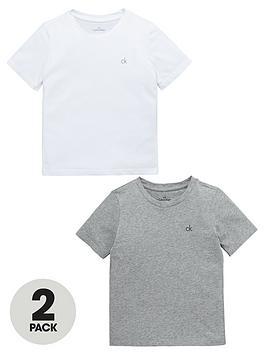 calvin-klein-boys-whitegrey-modern-lounge-t-shirts-2-pack