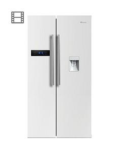 swan-sr70110wnbsp90cm-american-style-double-door-frost-freenbspfridge-freezer-with-water-dispenser-white