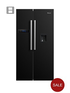 swan-sr70110bnbsp90cm-american-style-double-door-fridge-freezer-with-water-dispenser-black
