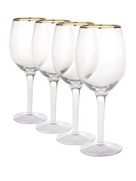 gold-band-wine-glasses-4-pc