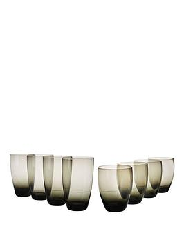 8-piece-tumbler-and-highball-set-ndash-smoky-black