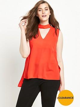 v-by-very-curve-high-neck-v-sleeveless-blouse-orange