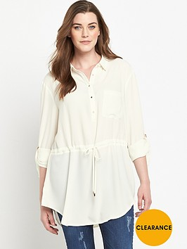 v-by-very-curve-tab-sleeve-waist-detail-longline-shirt