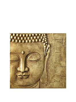 arthouse-peaceful-buddha-3d-canvas-gold