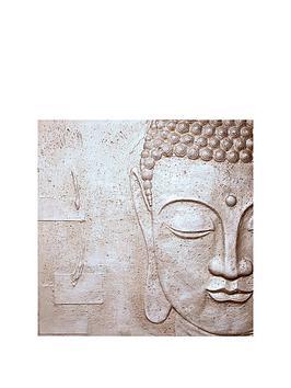arthouse-peaceful-buddha-3d-canvas-silver