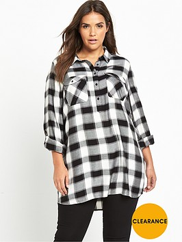 v-by-very-curve-lightweight-button-through-shirt