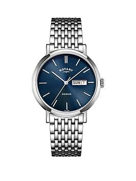 rotary-rotary-windsor-blue-dial-stainless-steel-bracelet-mens-watch
