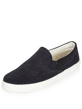 river-island-suede-slip-on-trainer
