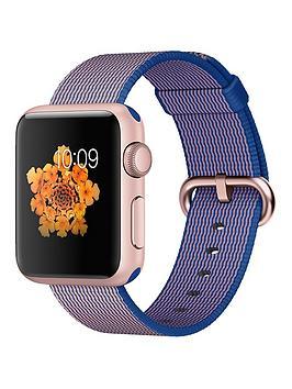apple-watch-sport-38mm-rose-gold-aluminium-case-with-royal-blue-woven-nylon