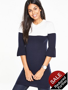 v-by-very-colour-block-fluted-sleeve-tunic