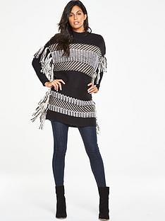 v-by-very-jacquard-knit-tassel-poncho-top