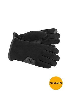 ugg-suede-smart-glove-with-leather-trim