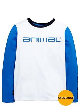 animal-ls-contrast-sleeve-top