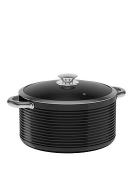 tower-linear-24cm-ceramic-coated-casserole-pan-black