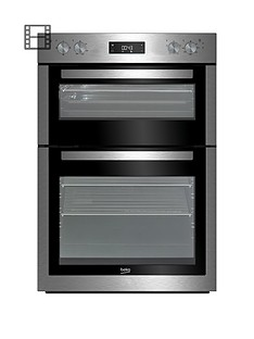 beko-bdf26300xnbsp60cm-built-in-double-electric-oven-with-connection-stainless-steel