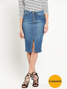 v-by-very-button-and-split-front-denim-pencil-skirt