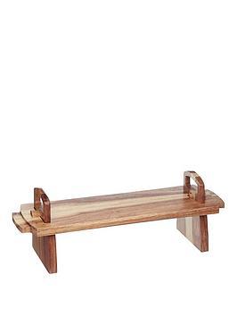 master-class-artesagrave-medium-acacia-wood-platform-serving-platter