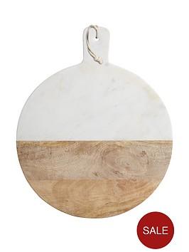 master-class-master-class-marblemango-wood-paddle-board-round-50x40x2cm