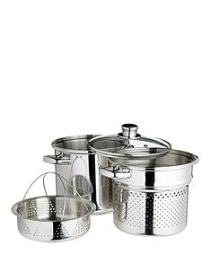 world-of-flavours-italian-20cm-stainless-steel-pasta-pot