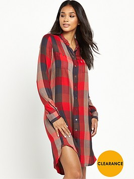 levis-levis-ls-check-shirt-dress