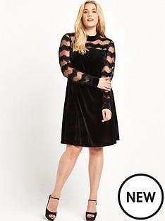 junarose-high-neck-velvet-dress