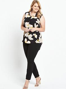 lovedrobe-floral-sleeveless-shirt