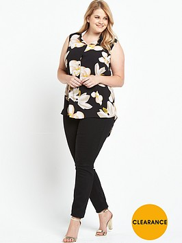 lovedrobe-floral-sleeveless-shirt