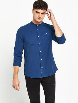 river-island-long-sleeve-grandad-collar-shirt