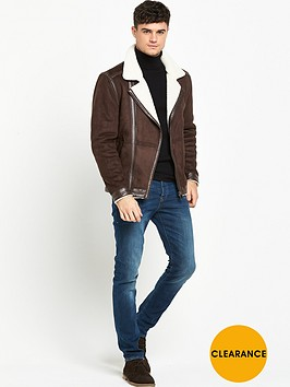 river-island-shearling-suedette-biker-jacket