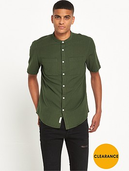 river-island-textured-grandad-collar-shirt