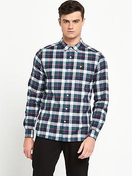 lyle-scott-check-flannel-shirt