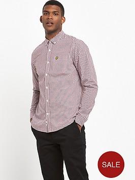 lyle-scott-gingham-check-shirt