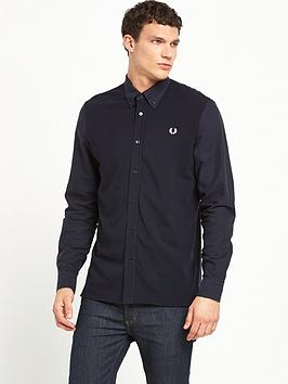fred-perry-texture-mix-shirt