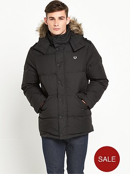 fred-perry-down-fur-trim-parka