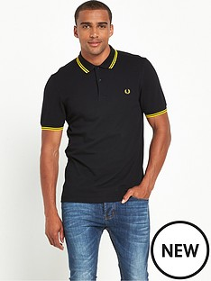 fred-perry-original-twin-tipped-polo-shirt-blackyellow