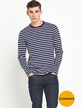 fred-perry-long-sleeve-breton-top