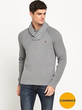 fred-perry-textured-rib-shawl-neck-jumper