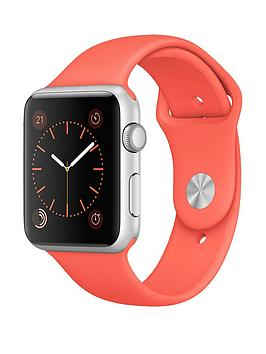 apple-watch-42mm-silver-aluminium-case-with-apricot-sport-band